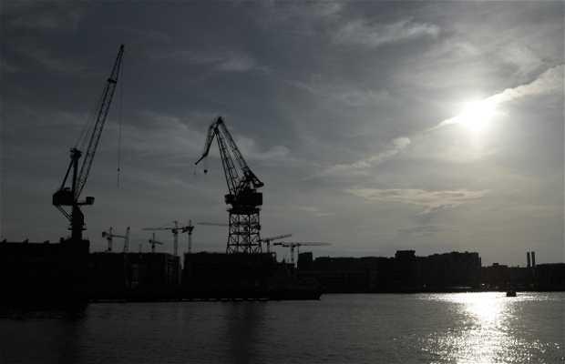 Puerto industrial Grúas