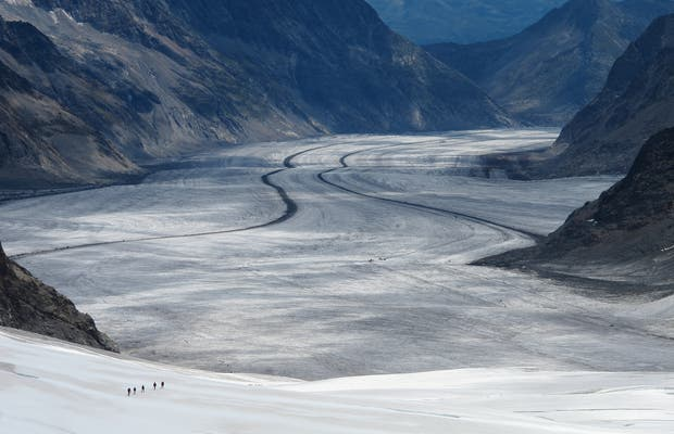 Ascending Jungfrau