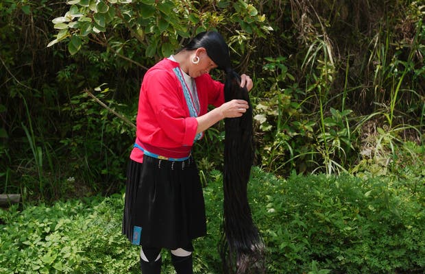 Long hair yao ethnic