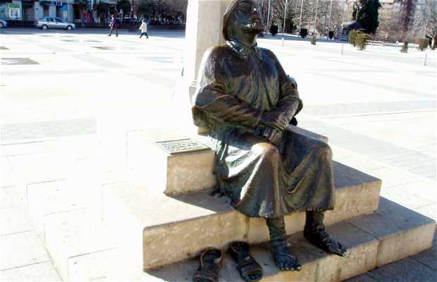 Estatua en homenaje al Peregrino