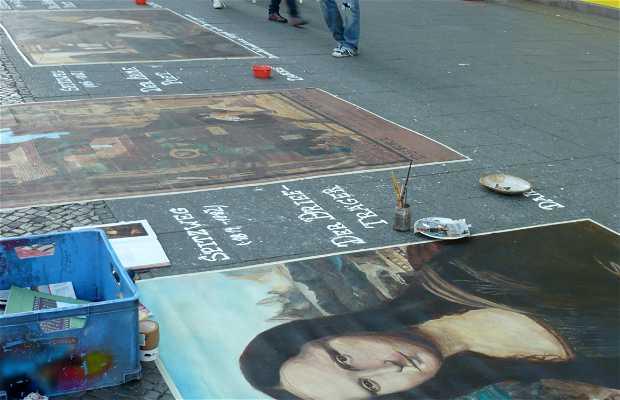 Artistas callejeros en Berlín
