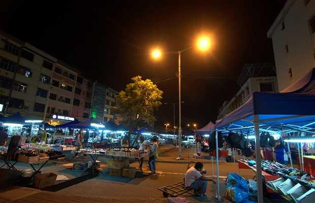 Mercado nocturno de Kota Kinabalu