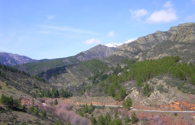 Carretera hacia Puebla de la Sierra