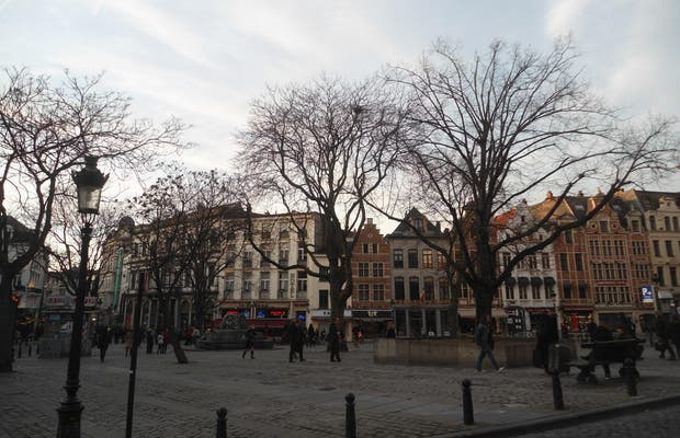 Plaza del Mercado con hierbas