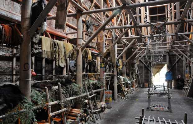 Un pueblo tradicional Huron reconstituido