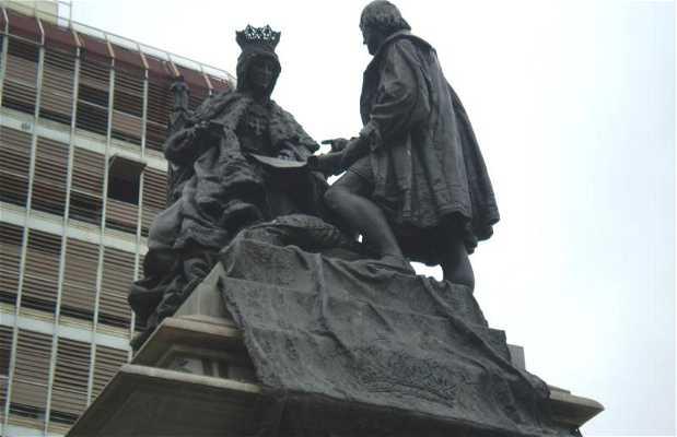 Monumento de la reina Isabel y Colón