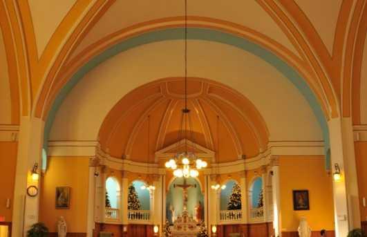L'église Saint-François-d'Assise à Saint-Sauveur