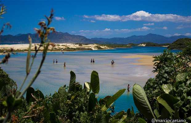 Spiaggia di Guarda do Embau a Palhoça