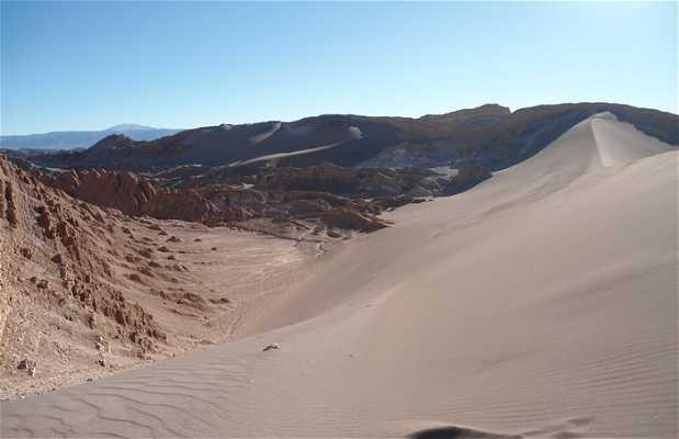 La vue depuis la duna Mayor