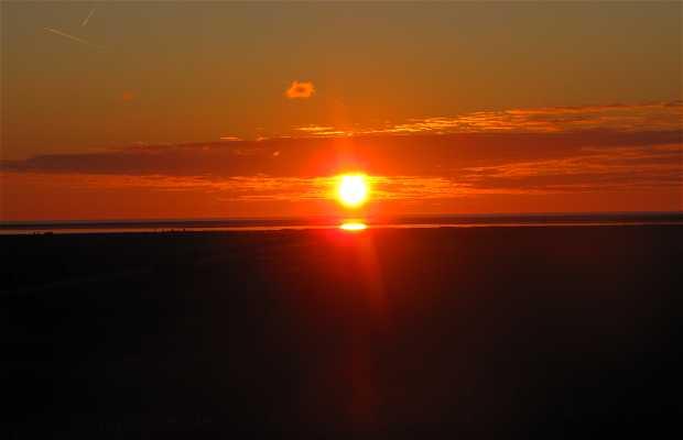 Coucher de soleil sur la mer du nord