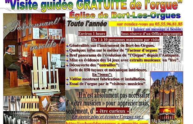 Visite de l'orgue de l'église de Bort-Les-Orgues