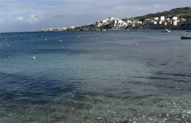 Playa de Pwales y bahía de Xemxija