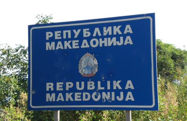 Frontiere Albanie-Macedoine