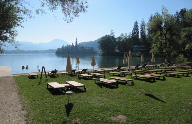 Parking at the Shore of Bled Lake