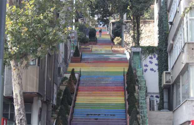 Rainbow Stairs Beyoglu