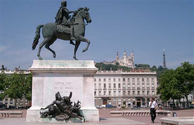 Piazza Bellecour a Lione