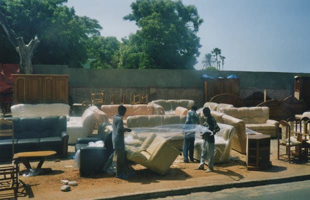Compras en las calles de Dakar