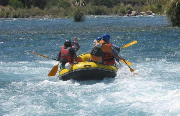 Rafting en termas de Cacheuta