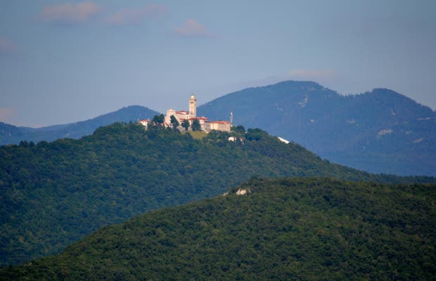 Panorama dalla torre di Gonjace