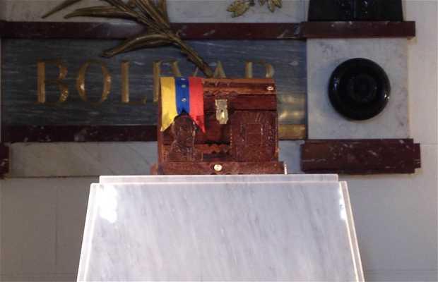 Cofre con los restos simbólicos del General José Félix Ribas