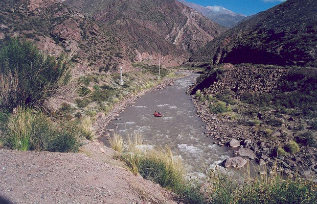 Rafting nos Andes