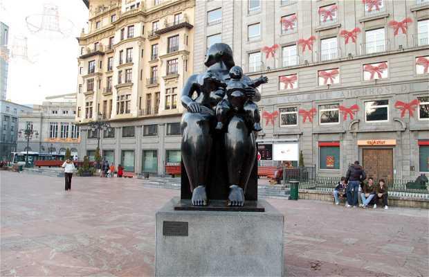 Percurso das estátuas de Oviedo