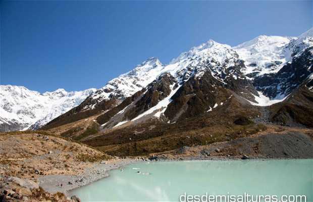Lago glaciar del Monte Cook