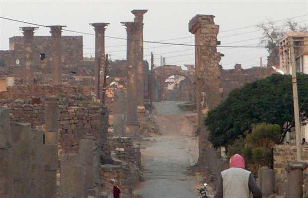 La vie autour des ruines