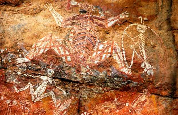Pinturas aborígenes em Kakadu - Pedra de Nourlangie