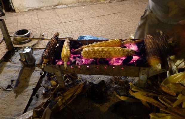 Puesto de venta de maíz