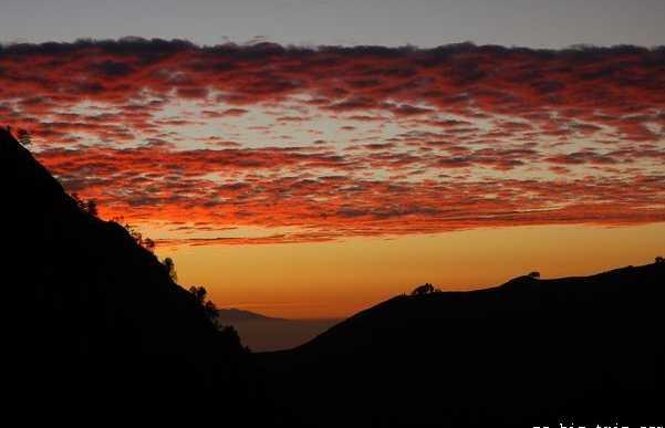 Atardecer en el Monte Rinjani