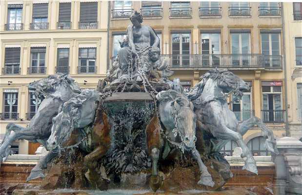 Fontana Terreaux a Lione