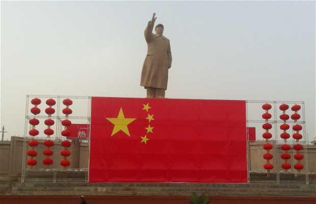 Estatua de Mao en Kashgar