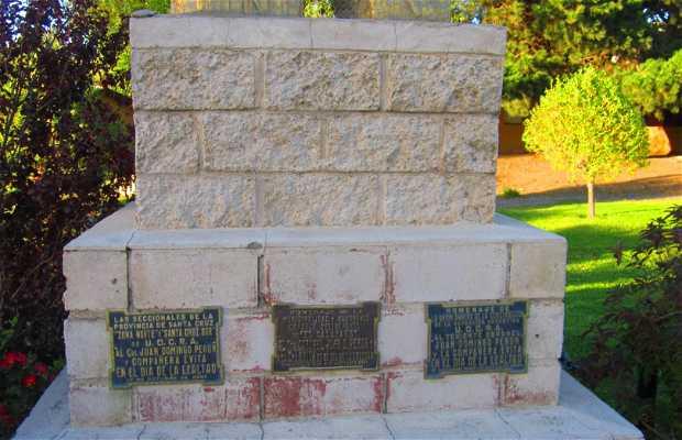 Monumento Juan Domingo y Eva Peron