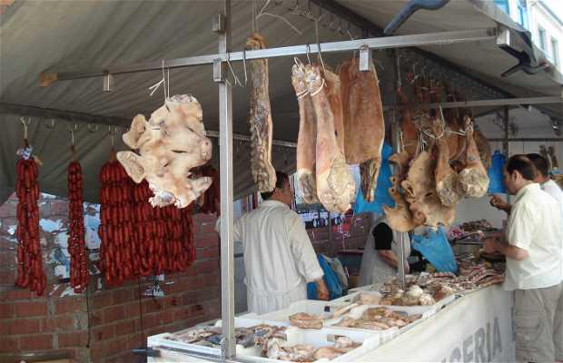 Mercado callejero de Melide