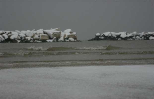 Bellaria spiaggia d'inverno
