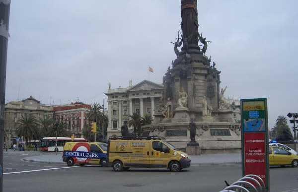 Piazza Colón a Barcellona