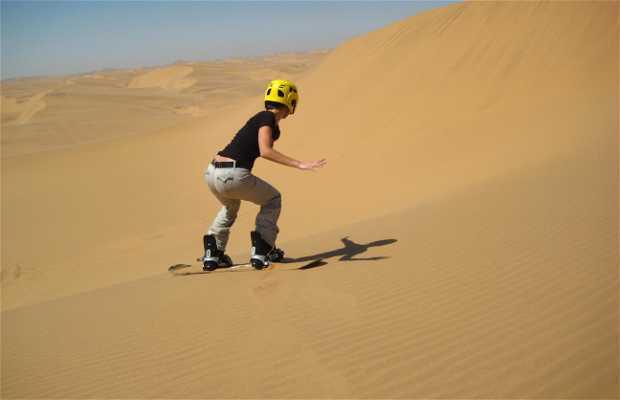 Sandboarding na Swakopmund