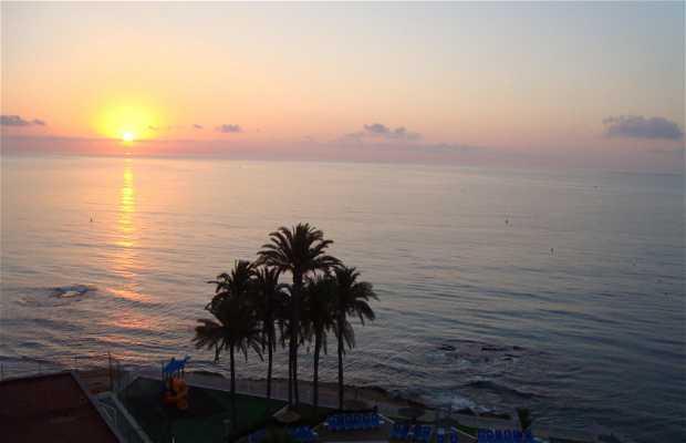 Puesta de sol en Orihuela costa