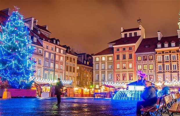 Mercado de Navidad en Varsovia