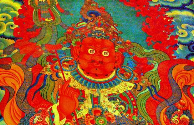 O Templo de Jokhang, Lhasa, Tibete