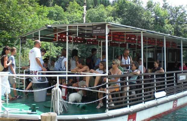 Por los lagos de Plitvice en barco