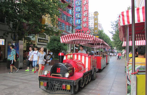 Passeio de Trem pela Nanjing Road