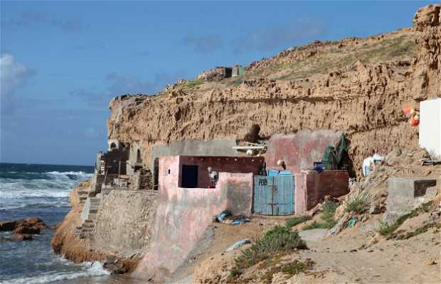Cabanes de pêcheurs d'Aglou