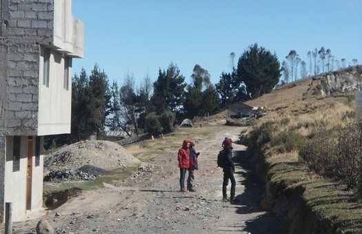 Carretera hacia Chugchilan