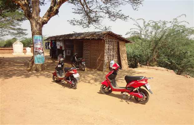 Balade en vélo électrique à Bagan
