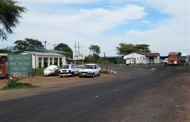 Frontera Botswana-Zimbabwe por kasane