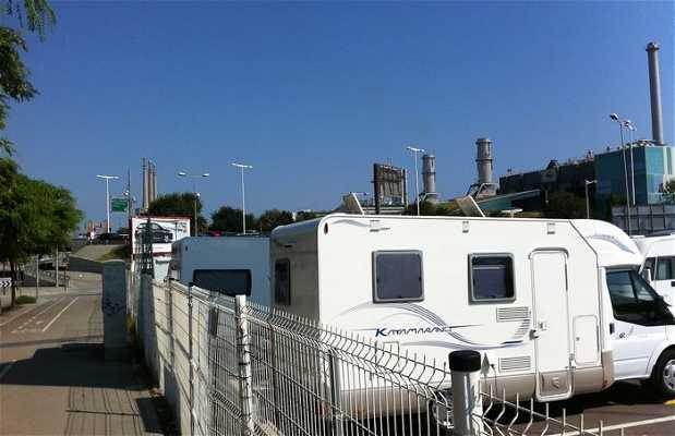 Parking pour camping-cars au Forum