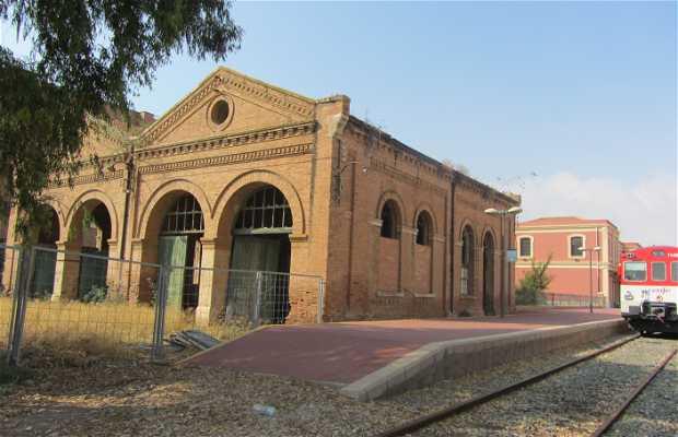 Antigua estación de tren en Águilas.