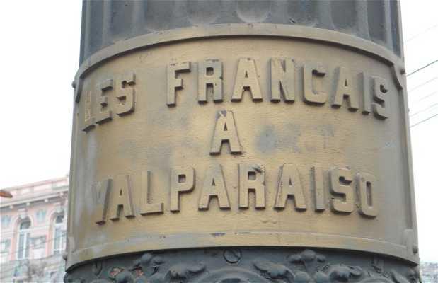 El homenaje a los franceses de Valparaiso